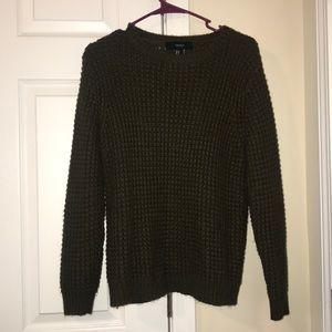 Olive sweater.